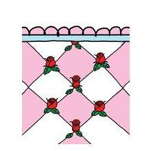 Babette Badtextiel Roosjes (6 Stuks) - Gastendoekje - 30x50 cm - Roze