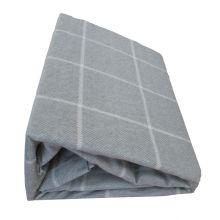 Laken Flanel Grote Ruit Duitse Kwaliteit (B-keuze) - Litsjumeaux - 240x275 cm - Grijs