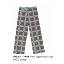Marieke at Home Long Trouser Natural Check - Blauw