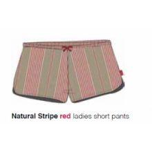 Marieke at Home Short Natural Stripe (ladies) - Rood