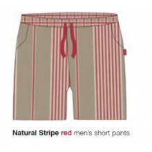 Marieke at Home Short Natural Stripe (men) - Rood