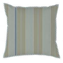 Marieke at Home Sierkussen Natural Stripe - 50x50 cm - Blauw