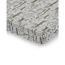 Damai Hoeslaken Typo - Eenpersoons - 90x200 cm - Khaki