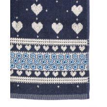 Bunzlau Castle Keukendoek Valentine (6 Stuks) - 53x60 cm - Dark Blue