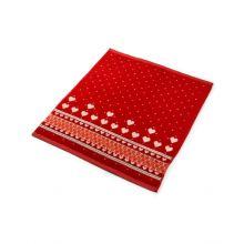 Bunzlau Castle Keukendoek Valentine (6 Stuks) - 53x60 cm - Red