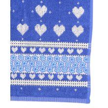 Bunzlau Castle Keukendoek Valentine (6 Stuks) - 53x60 cm - Royal Blue