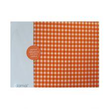 Damai Hoeslaken Vichy - Ledikant - 60x120 cm - Orange