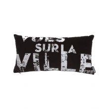 Kardol & Verstraten Sierkussen La Ville - 25x50 cm - Black