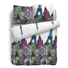 HnL Pure Cotton Dekbedovertrek City Life - Litsjumeaux - XL 260x200/220 cm - Multi