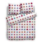 HnL Pure Cotton Dekbedovertrek Gwyneth - Litsjumeaux - 240x200/220 cm - Wit