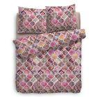 HnL Pure Cotton Dekbedovertrek Rachela - Litsjumeaux - 240x200/220 cm - Roze