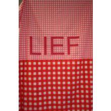 Dekbedovertrek LIEF - Eenpersoons - 140x200 cm - Roze/Rood