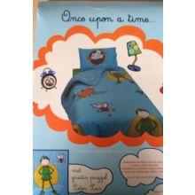 Once Upon a Time Kinderovertrek Peter Pan - Eenpersoons - 140x200 cm - Blauw