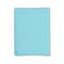 LIEF! Hoeslaken Check - 40x80 cm - Licht blauw