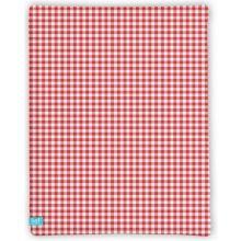 LIEF! Hoeslaken Check - 40x80 cm - Rood