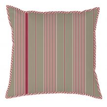 Marieke at Home Sierkussen Natural Stripe - 50x50 cm - Rood