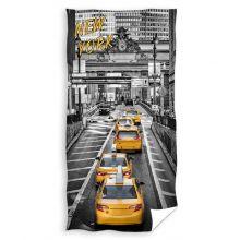 Strandlaken New York Yellow Cab - 70x140 cm - Grijs/Geel
