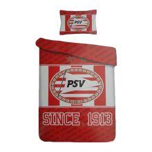 PSV Dekbedovertrek Since 1913 - Eenpersoons - 140x200 cm - Rood/Wit