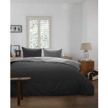 Beddinghouse Dekbedovertrek Uni - Eenpersoons - 140x200/220 cm - Black